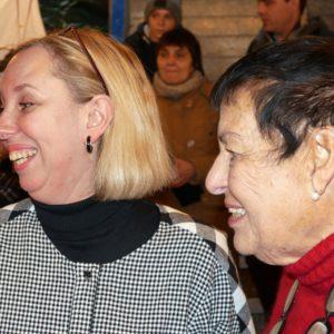 Heidi Bentele auf dem Adventsmarkt des Vereins