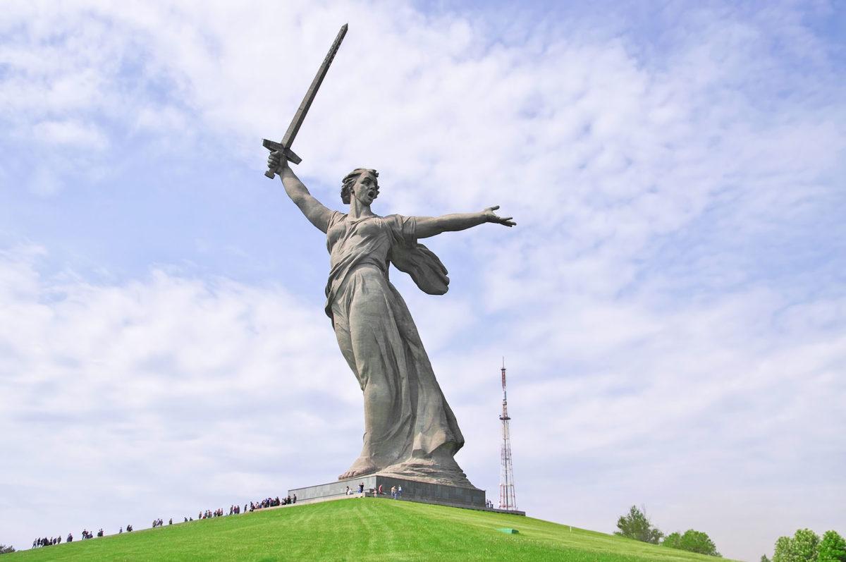 Skulptur Mamayev Kurgan, Wolgograd, Russland